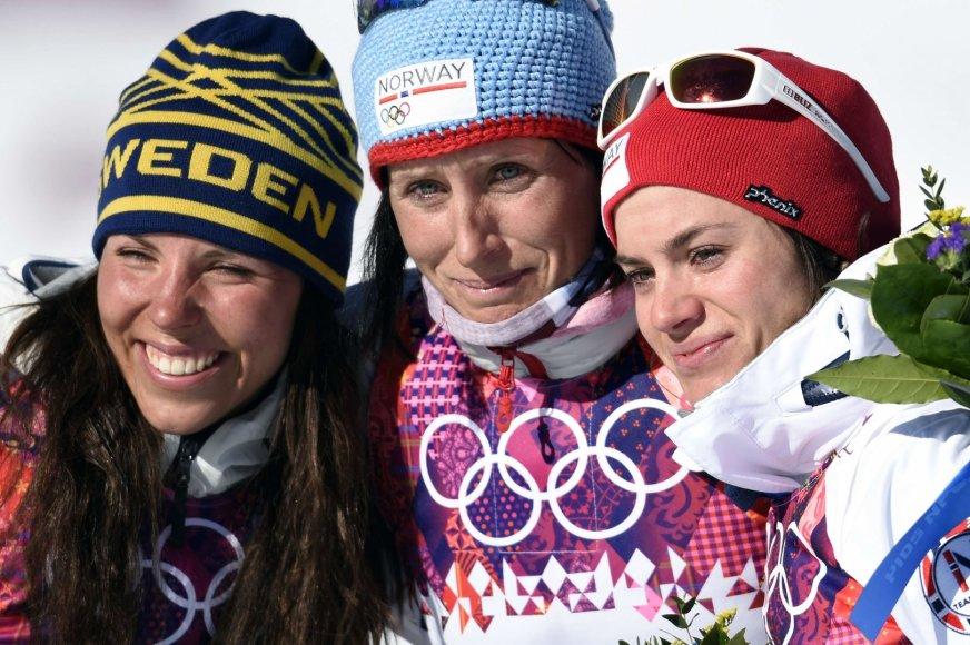 Charlotte Kalla, Marit Bjoergen ir Heidi Weng