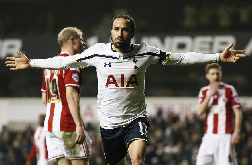 """""""Tottenham Hotspur"""" ekipos žaidėjas Andros Townsendas"""