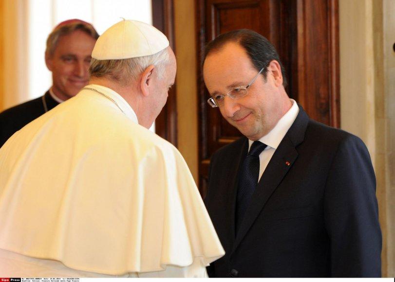 Prancūzijos prezidento ir popiežiaus susitikimas