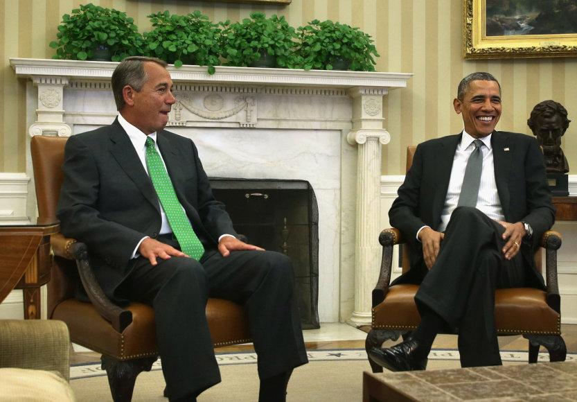 Johnas Boehneris ir Barackas Obama