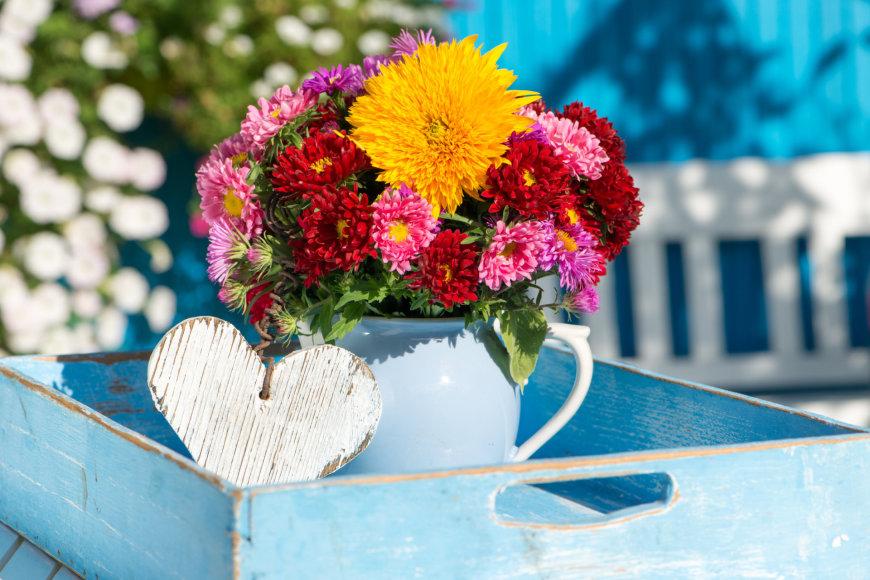 Gėlių puokštė.