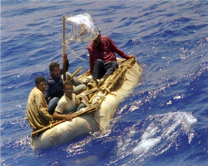 Kubiečiai plauste prie Floridos krantų.