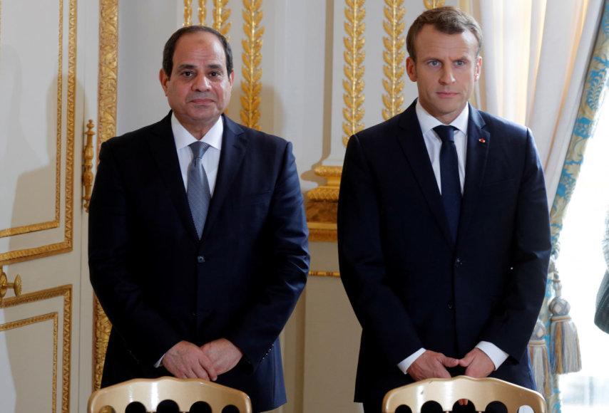 Abdelis Fattah al Sisis ir Emmanuelis Macronas
