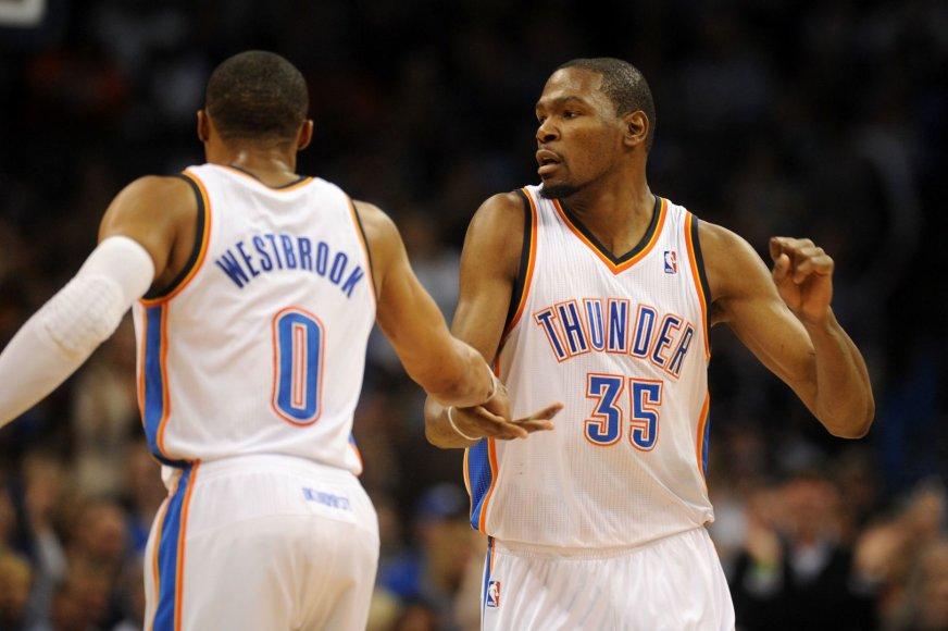 Russellas Westbrookas ir Kevinas Durantas