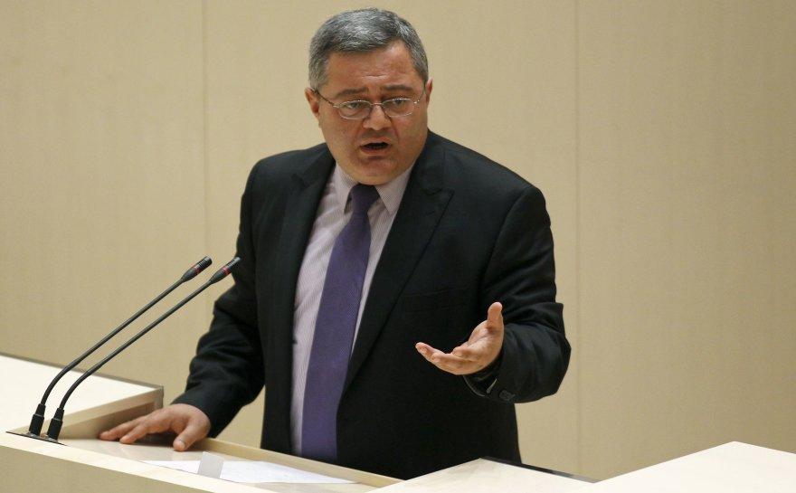 Gruzijos parlamento pirmininkas Davidas Usupašvilis.
