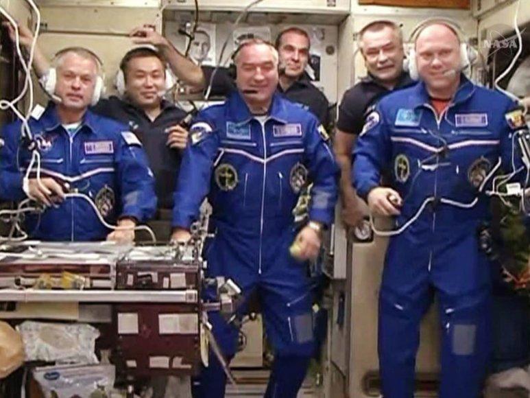Kosmonautai Tarptautinėje kosminėje stotyje