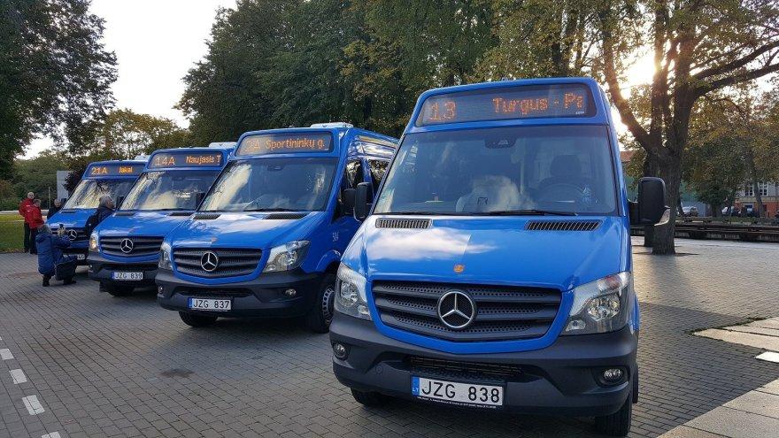 Į Klaipėdos gatves išriedės nauji mikroautobusai.