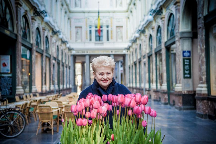 2017 04 29. Lietuvos Respublikos Prezidentė Dalia Grybauskaitė Briuselyje prieš Europos Vadovų Tarybą