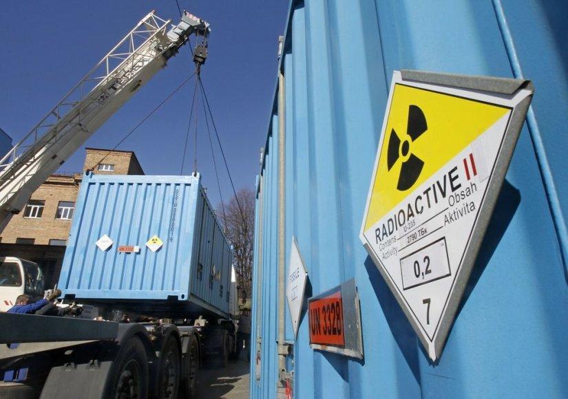 Konteineriai su itin prisodrintu uranu