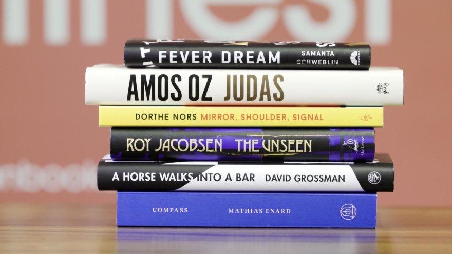"""""""Man Booker"""" premijos teikėjų nuotr./Tarptautinės """"Man Booker"""" premijos trumpojo sąrašo knygos"""