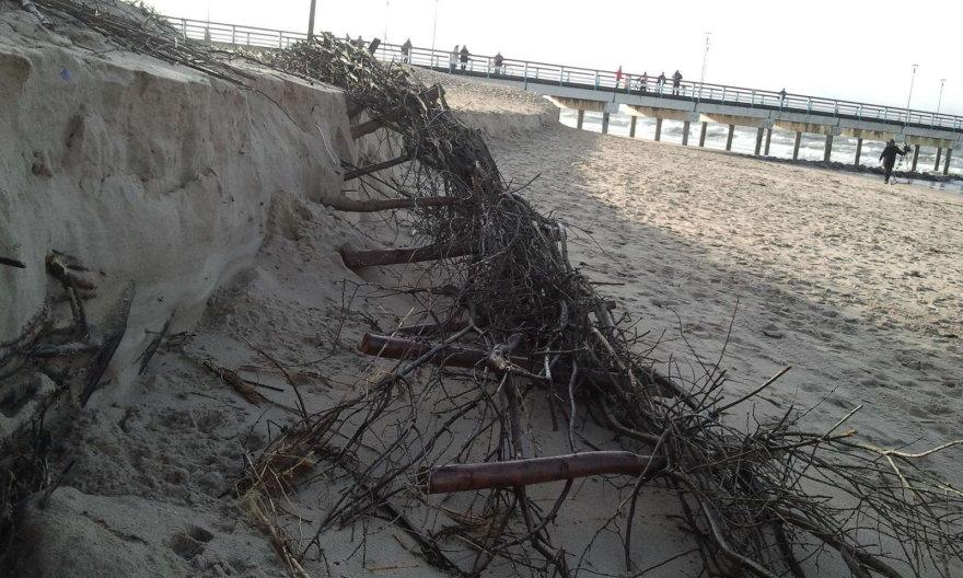 Palangos paplūdimiai po uragano