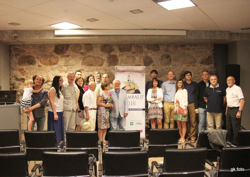 Organizatorių nuotr./Kolumbas LT konkurso 2016 m. laureatai ir  komisija