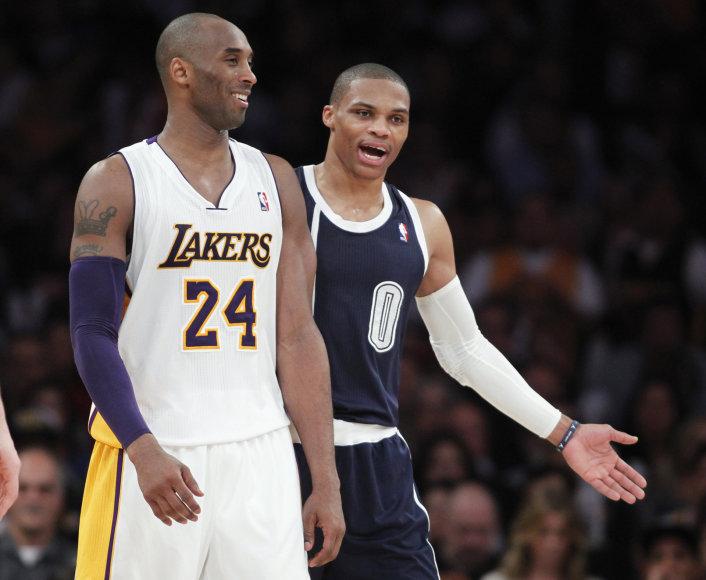 Kobe Bryantas ir Russellas Westbrookas