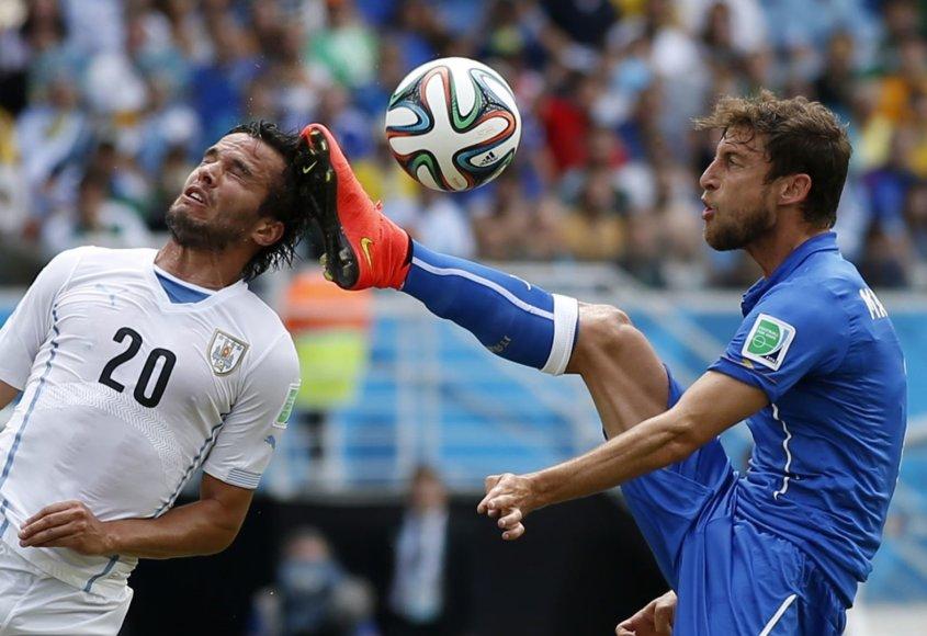 Alvaro Gonzalezas ir Claudio Marchisio