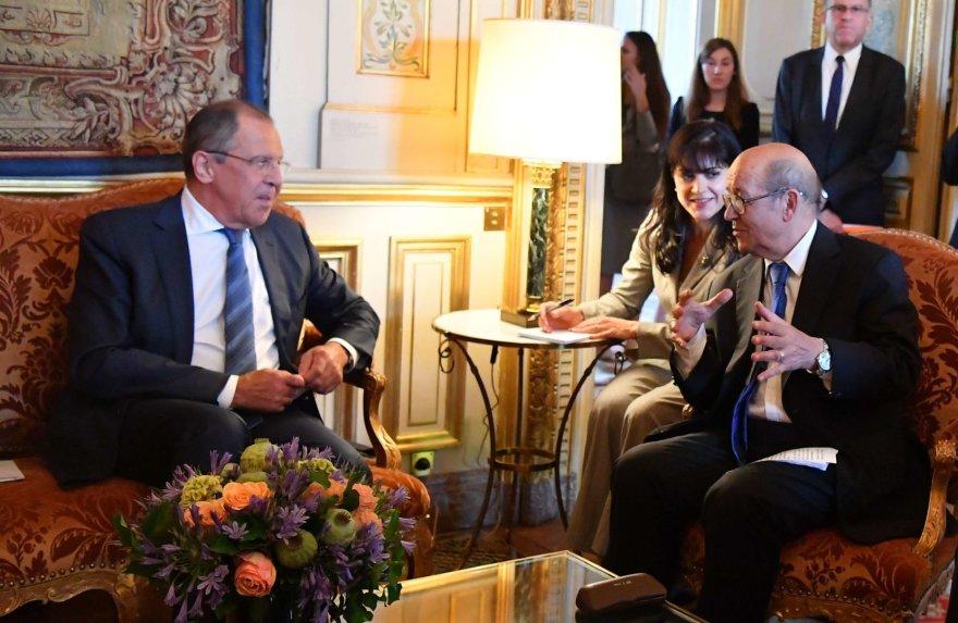 S.Lavrovas ir J.Y.Le Drianas Hamburge
