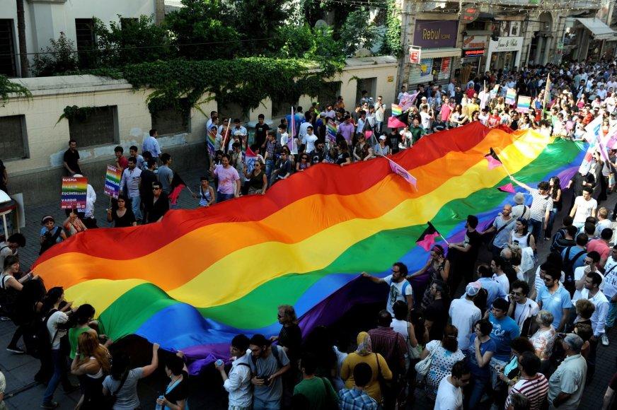 LGBT bendruomenės protesto akcija Stambule