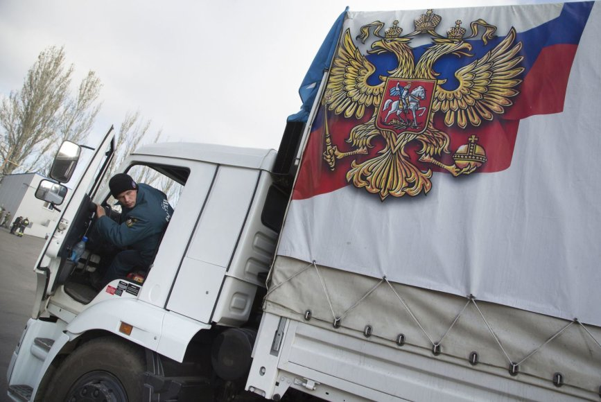 Rusijos humanitarinės pagalba atvyko į Ukraina