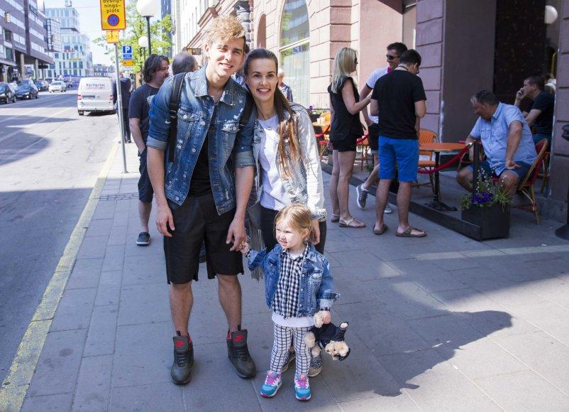 Luko Balandžio / 15min nuotr./Donatas Montvydas su šeima