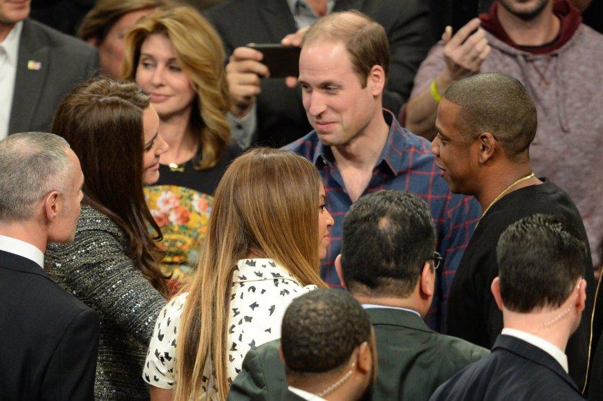 Kembridžo hercogiene Catherine ir princas Williamas su Beyonce ir Jay Z
