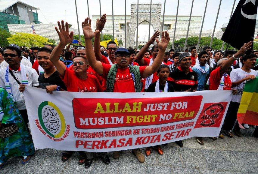 Musulmonai protestuotojai Malaizijoje