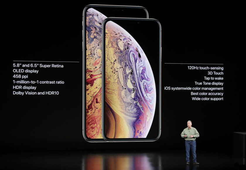 """Scanpix""/AP nuotr./Naujieji telefonai ""iPhone Xs"" ir ""iPhone Xs Max"""