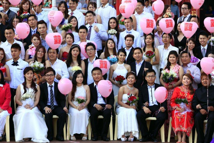 Masinių vestuvių ceremonija Malaizijoje