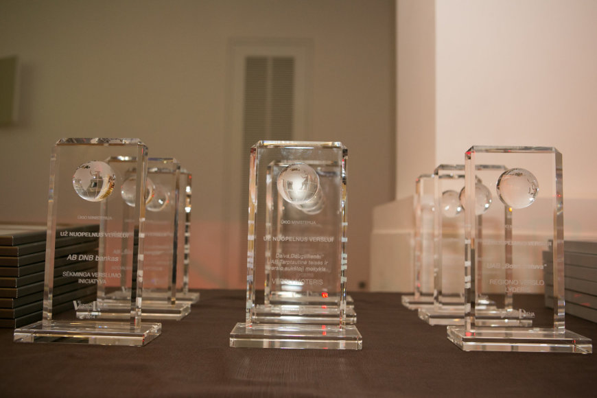 Apdovanojimų akimirka