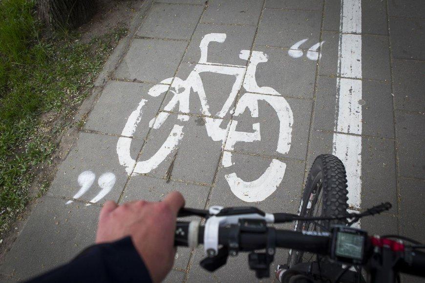 Vingiuojant sostinės dviračių takais...