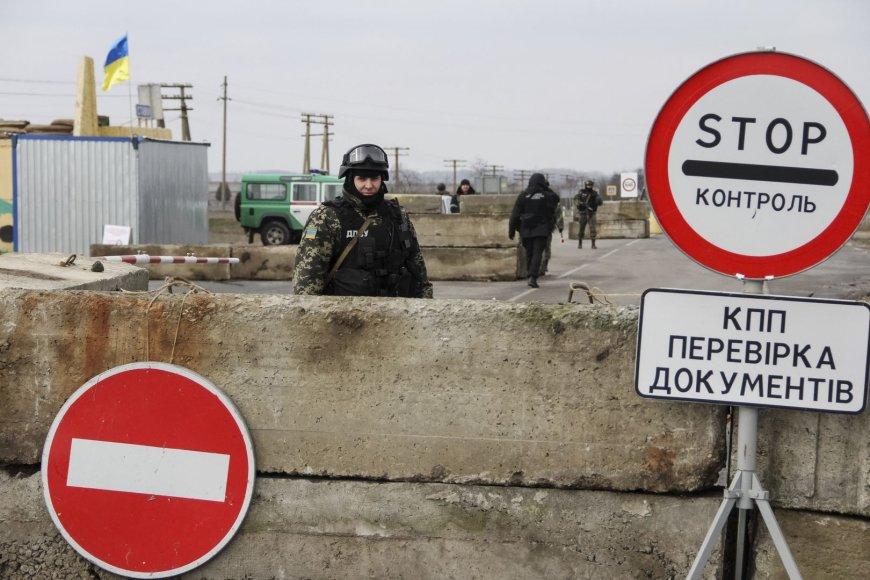 Ukrainos kariai prie Krymo sienos