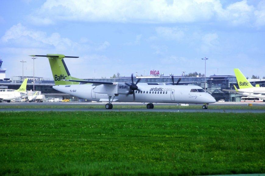 """Airbaltic"" lėktuvas ""Bombardier Q400 NextGen"""