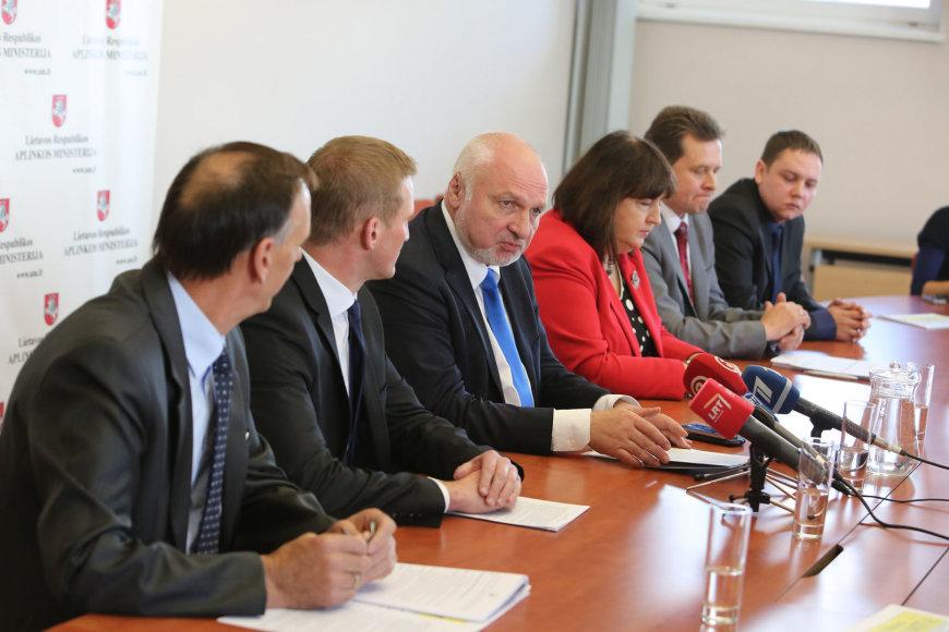 Spaudos konferencija Aplinkos ministerijoje
