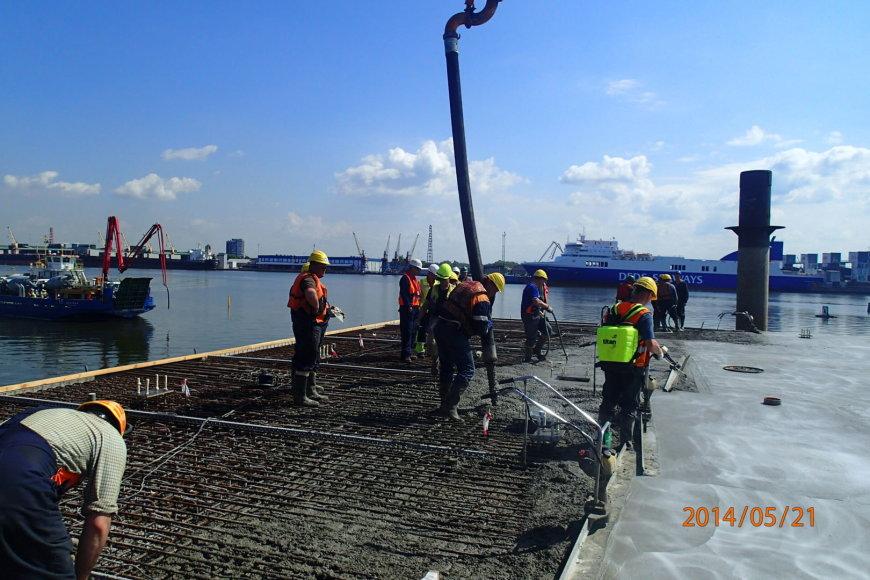 Aptarnavimo platformos betonavimo darbai