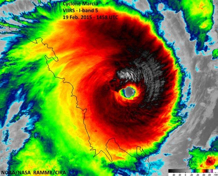 Tropinis ciklonas pavadinimu Marcia