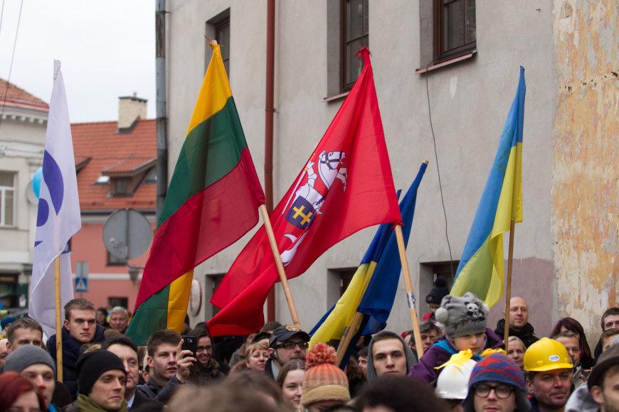 Užupio konstitucijos ukrainiečių kalba atidengimas 2014 m. vasarį