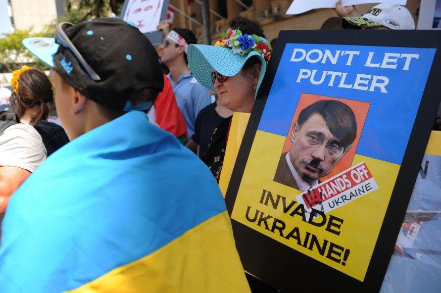 Protestas Australijoje prieš V.Putiną