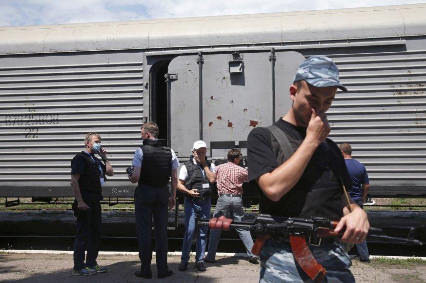 Žuvusiųjų kūnai laikomi šaldymo vagonuose Toreze