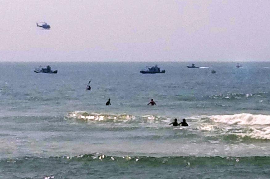 Priverstinis sraigtasparnio tūpimas Atlanto vandenyne