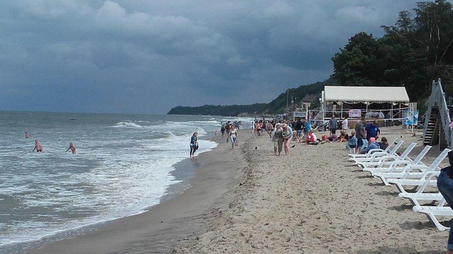 Jūra putojo, todėl buvo labai smagu maudytis