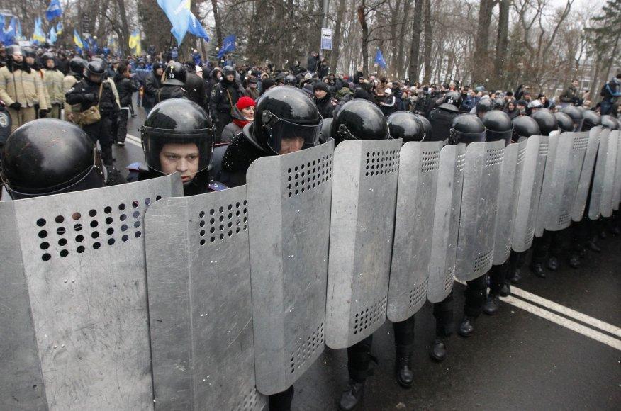 Opozicijos mitingas Kijevo Nepriklausomybės aikštėje