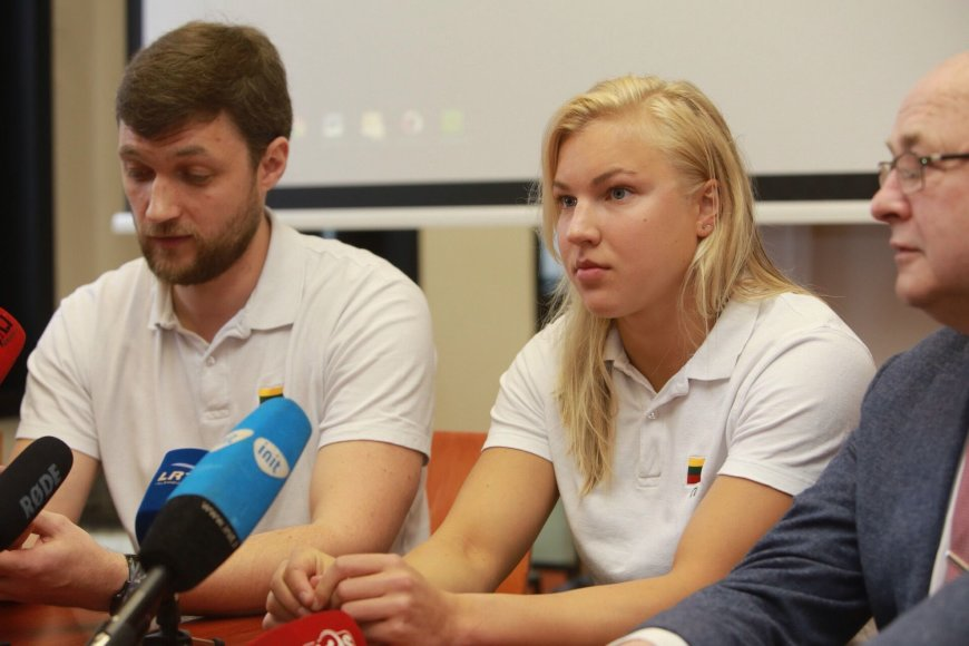Aliaus Koroliovo nuotr./Paulius Andrijauskas ir Rūta Meilutytė