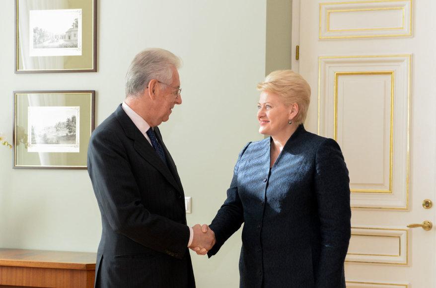 Dalia Grybauskaitė susitiko su buvusiu Italijos premjeru Mario Monti