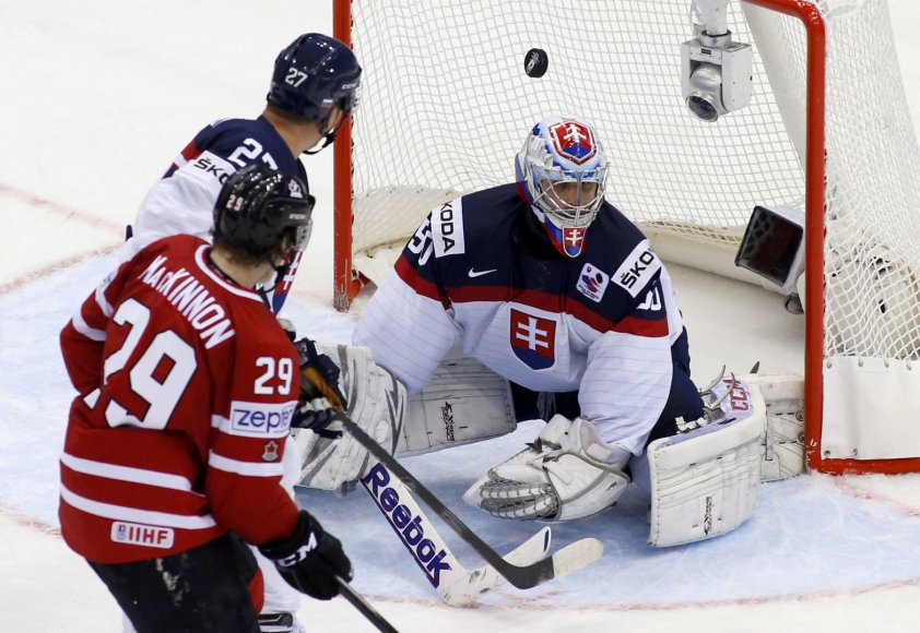 Kanados ledo ritulio rinktinė įveikė Slovakiją