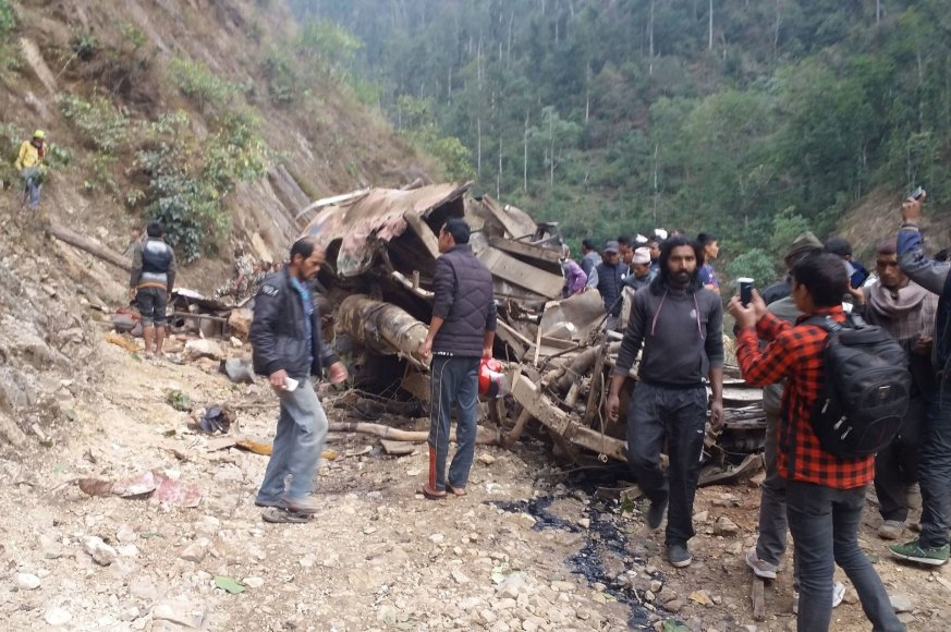 Autobuso avarija Nepale