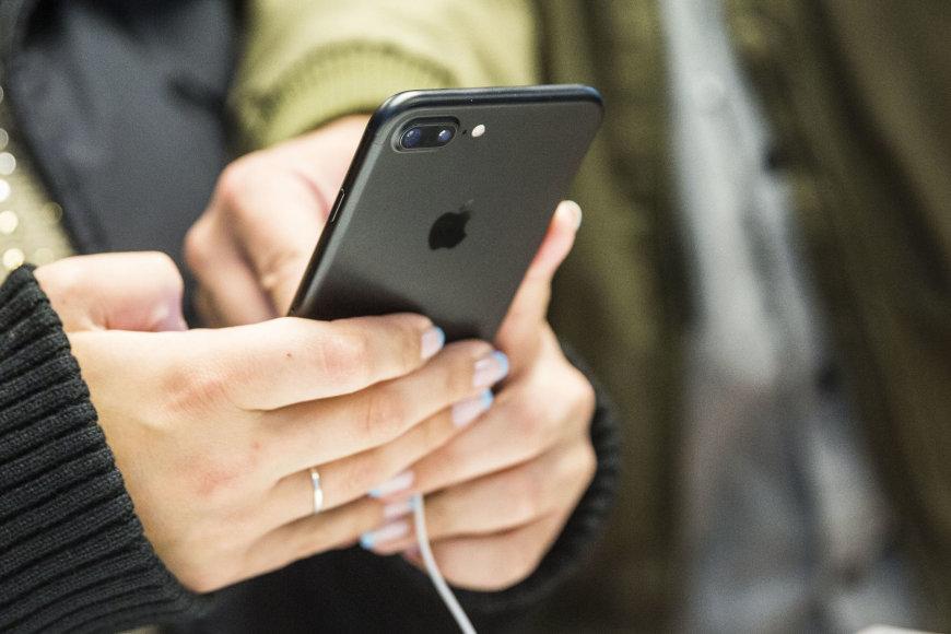"""Donatas Montvydas pristatė """"Iphone 7"""""""