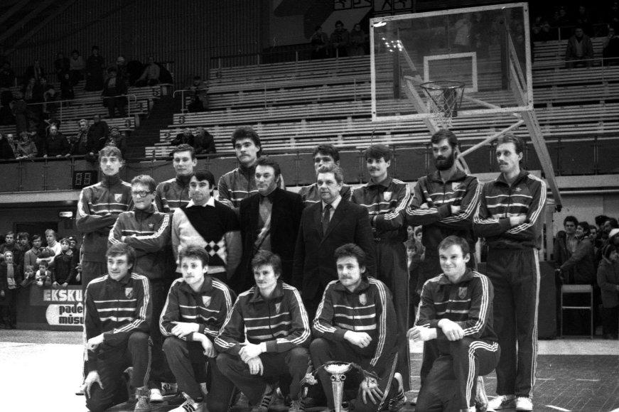 """Arvydas Sabonis su """"Žalgiriu"""" 1986 metais"""