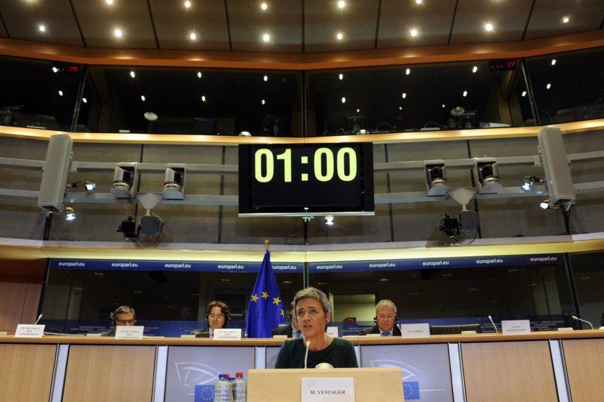 ES konkurencijos komisarė Margrethe Vestager