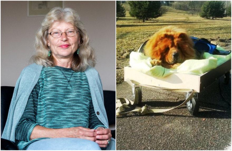 Kristina Ona Polukordienė ir jos šuo Čiavis