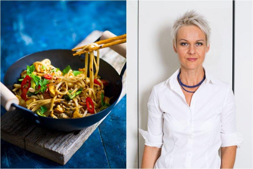 Nida Degutienė ir jos ruošta vištiena su azijietišku padažu