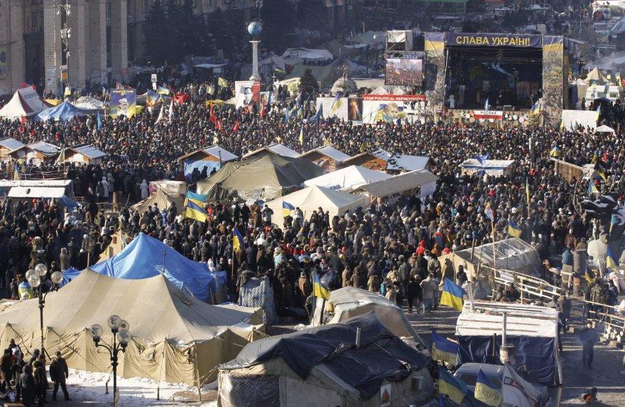 Sekmadienio mitingas Kijeve: susirinko daugiau nei 50 tūkst. opozicijos šalininkų