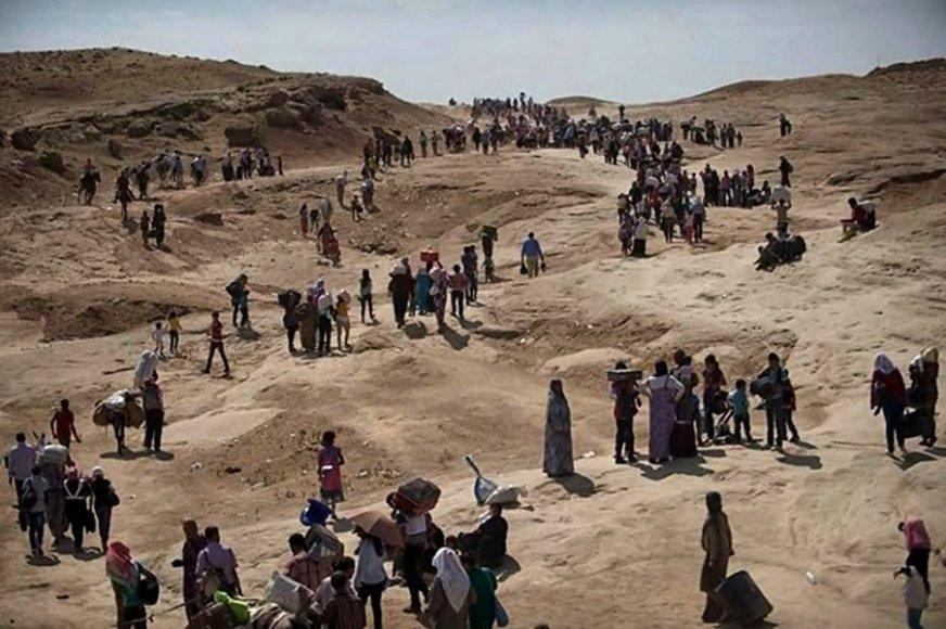 Pabėgėliai prie Sinjaro kalno